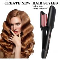 China Triple Hair Waver Styling Tool Curling Iron Wand Ceramic Instant Curls Crimper Hair Iron Deep Waver for Beachy Waves Hot on sale