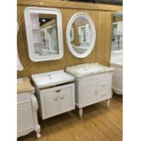 Quality Wall Embossing Board Single Bowl Bathroom Vanities With Mirror 60cm wholesale