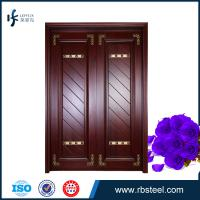 Quality factory directly sale villa front entrance double wooden doors wholesale
