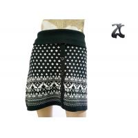 Quality Pure Acrylic Womens Knit Skirts Contrast Color with Button Front Fit Style wholesale