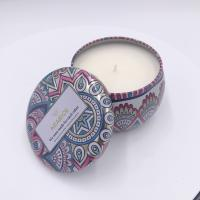 Quality Decorative candle tin wholesale travel tin scented candles with printing for home decor wholesale