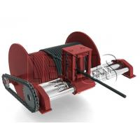 Quality Customized Color Lebus Grooved Drum / Hydraulic Winch With Spooling Device wholesale