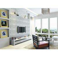 Quality 3D PVC Geometric Printing Wallpaper TV Background Contemporary Wall Covering wholesale