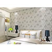 China Greywhite Removable Modern 3D Wallpaper for Living Room 1500g Mould Proof on sale
