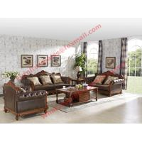 Quality 1+2+3 Italy Leather Upholstery Sofa Set with Wooden Tv Stand and Storage Cabinet wholesale