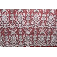 Buy cheap Diamond Mesh based Crown Style Embroidery Lace Fabric Crown for Women's Clothes from wholesalers