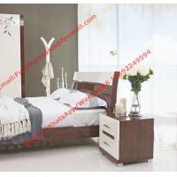 Cheap Budget Hotel furniture in modern deisgn by panel bed and doors wardrobe in high glossy for sale