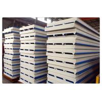 Quality Fireproof Color Coated Steel PU Sandwich Panel / Insulation Wall Panels wholesale
