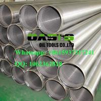 Quality Galvanized  welding ring  V-shape Slot Johnson Water Well Screens China Manufacturer wholesale