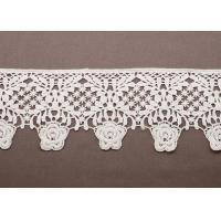 Quality OEM White Lace Cotton Crochet Clothing Trimmings for Women Knitted Sweaters wholesale