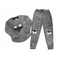 Quality Knitted Fabric Ladies Pyjama Sets Long Sleeves And Trousers Breathable wholesale