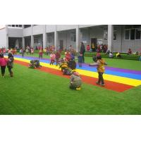 Buy cheap Green Artificial Turf Grass For Kindergarten / Artificial Lawn Grass Customized product