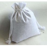 China blank cotton drawstring bag/ plain cotton drawstring pouch on sale