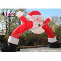 Quality Merry Christmas Day Inflatable Santa Archway Decoration Blow Up Arch Welcome Business wholesale