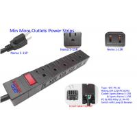 Quality American 10 Outlets Slim Plug Power Strip With Side Socket , Power Distribution Unit wholesale