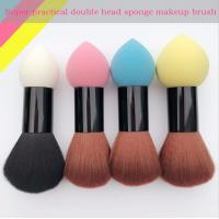 Quality Double Head Makeup Foundation Brush Powder Puff  Synthetic Hair and Sponge Hair Material wholesale