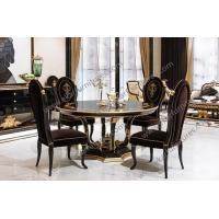 Quality Classic Style Dining Room Table Round Pedestal Dining Table Marble wood TN-005 wholesale