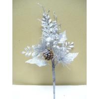 Quality Silver Tinsel Artificial Flower Garlands Bouquets for Decorating house wholesale
