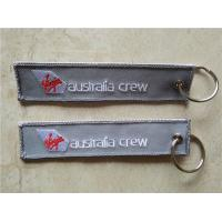 Buy cheap Virgin Australia Crew Fabric Embroidery Keychain Key Ring from wholesalers