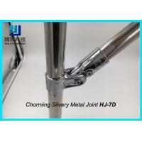 China Universal Metal Joints Chrome Pipe Connectors For ESD Workbench HJ-7D on sale