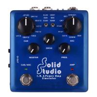 China Solid Studio IR Power Amp Simulator Guitar Multi Effect Pedal Dual Footswitch Builtin 8 Cabinet 8 Microphone True Bypass on sale