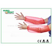 China Red 18 PE Plastic Disposable Arm Sleeves / Oversleeve for hospitals on sale