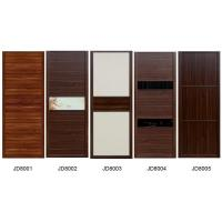 Quality Sliding Wardrobe Closet doors in melamine board  and Leather with Fabric covered MDF doors also Solid wood Cabinets wholesale