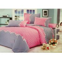 China Red and Grey Cotton Bedding Sets with Personalized Pillowcases on sale