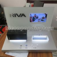 China Mini Speaker Counter Display Units With Point Of Sale LCD Screen on sale