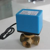 Quality 50/60Hz Fan Coil Electric Ball Valve / Electric Actuated Water Valves Medium Pressure wholesale