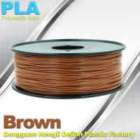Quality Brown PLA Filament Makerbot 3D Printer Materials  1kg  / spool wholesale