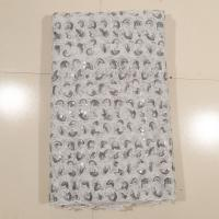 Quality Garment Embroidered Net Lace With Stones , Grey wholesale