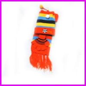 Quality Girls Sets Acrylic Togue & Knitting Scarves for Kids/Child Neckwear wholesale