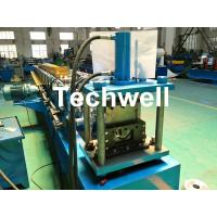 Quality Round Gutter Roll Forming Machine With PPGI Aluminum Forming Material , 0-15m/min wholesale