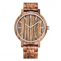 Quality Hand Engraved Zebra Wood Watch wholesale