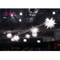 Cheap Spikey Inflatable Led Star Blow Up Balloon Decor Hanging Light 3m Diameter for sale