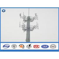 Quality 10 - 40 m Electric cell phone tower Steel Monopole mast Slip Joint Connection wholesale