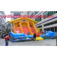 China Renting Inflatable Fun City With Moonwalk Bounce For Adult And Child on sale