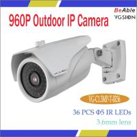"Quality 1/3"" CMOS 1.3MP IP camera,waterproof bullet camera,security camera information 3.6mm lens wholesale"