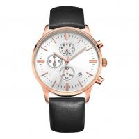 Quality Waterproof Alloy Quartz Watch Genuine Leather Strap With CE/ROHS/BSCI Certification wholesale
