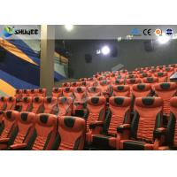 Quality Large Mobile 4D Movie Theater Equipment  , Motion Chairs With Comfortable Headrest And Cup Saucer wholesale