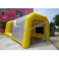 Pvc Tarpaulin Inflatable Paint Booth , Yellow Color Portable Spray Booth For