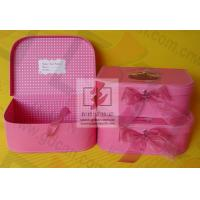 Quality Girls Pink Kraft Paper Jewelry Box Personalized Glossy Lamination wholesale