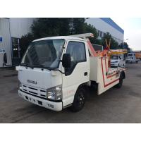 China 3t Breakdown Wrecker Flatbed Recovery Truck , Light Duty 98hp Vehicle Engine Cars Tow Truck on sale