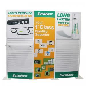 Quality Plastic Slatwall Custom Tradeshow Booth With Fabric Panel Lighting Storage wholesale