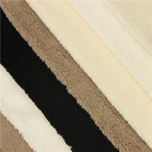 China african fabrics sherpa fur long pile plush tech fleece on sale