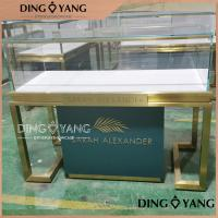 China Custom Made Jewelry Showcase Display Enclosed Large Storage With Lights on sale
