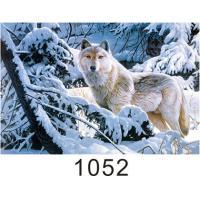Quality 0.6mm Thickness 3D Lenticular Images  ,  Advertising Poster 3D Wolf Picture wholesale
