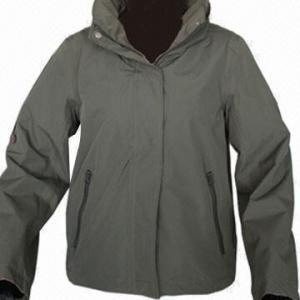 Quality Women's Outdoor Jacket, Army Green/Dark Navy, Fashionable Windbreaker wholesale
