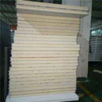 Quality best heat preservation double steel  PU sandwich panel 4900 x 1150 x 75mm for cold storage wholesale